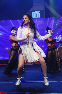 Sunny Leone Dancing on stage At Rogue Movie Audio Music Launch ~  177.JPG