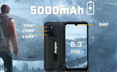 Energizer was bringing a smartphone Called G5, The Main Specification About This Phone is Rugged (Nokia 3310) 😉 and About this Phone Specification that the Battery Was 5000mAh, About Display 6.3 FHD+, And About Back Camera 13MP + 20MP + 48MP, Front Camera Was 8MP.