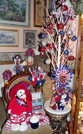 A Little More Red, White and Blue in the Living Room
