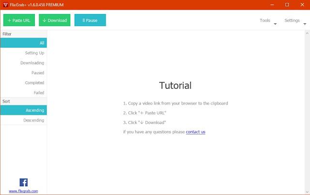 Screenshot FlixGrab+ Premium 1.6.0.458 Full Version