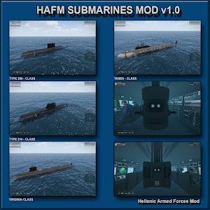 Arma3に潜水艦を追加するHAFM Submarines MOD