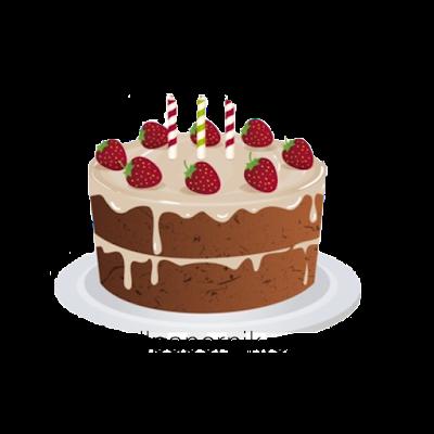 choco cake Happy Birthday PNG