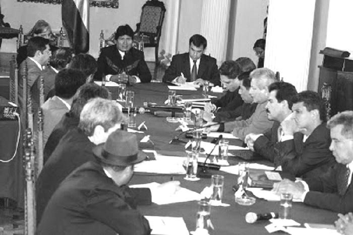Diálogo infructuoso por IDH y autonomías entre prefectos y gobierno central en 2008 / ARCHIVOS WEB