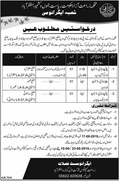 Latest Jobs in Agriculture Department AJK