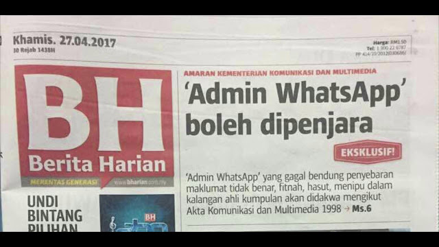 Anda admin Group Whatsapp? Baca ni...