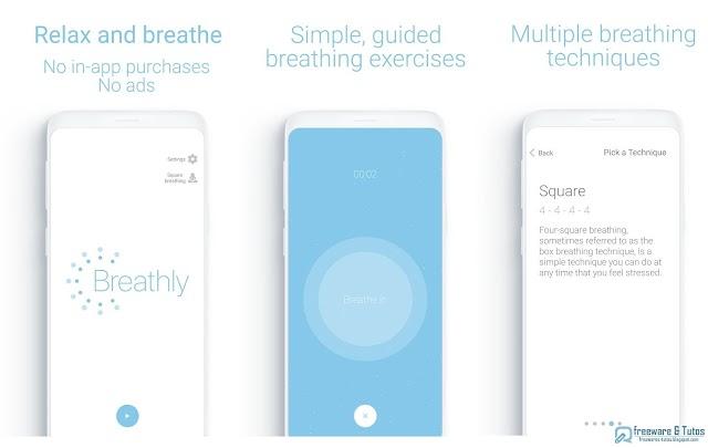 Breathly : une application Android/iOS pour se détendre par la respiration