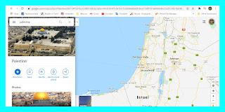 hilangnya palestina dari google maps