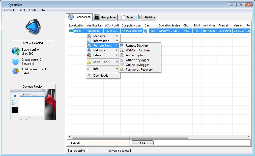 Rekings - hacking tools: CyberGate v3 4 2 2