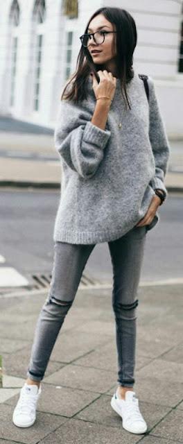 Grey Sweater grey pant