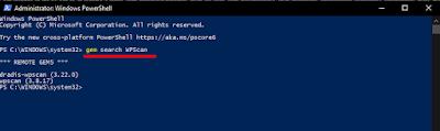 WPScan powershell windows