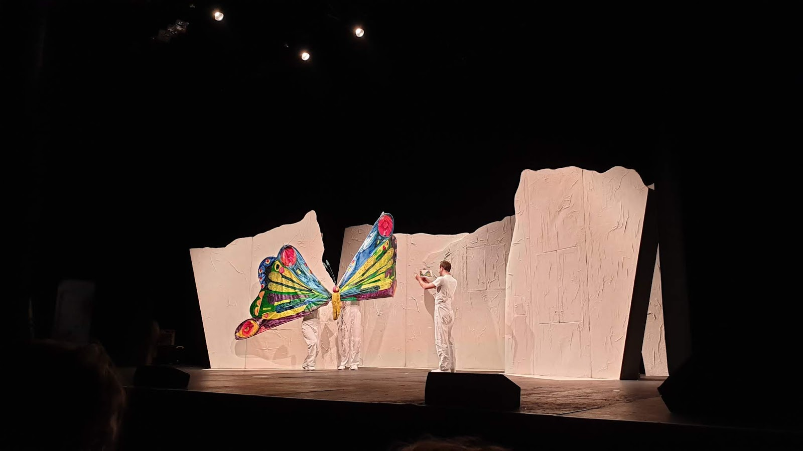 caterpillar turned butterfly puppet finale