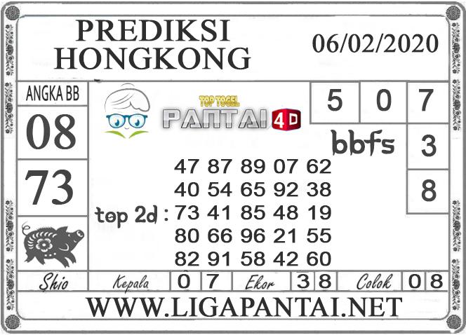 PREDIKSI TOGEL HONGKONG PANTAI4D 06 FEBRUARI 2020