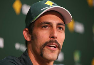 Mitchell Johnson Horseshoe Mustache Pictures