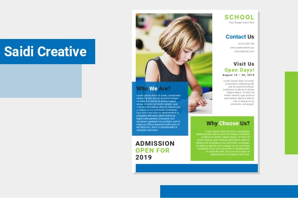 Free School Flyer Template Microsoft Word Document Fully Editable File