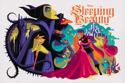 Disney's Sleeping Beauty Screen Prints by Tom Whalen x Cyclops Print Works