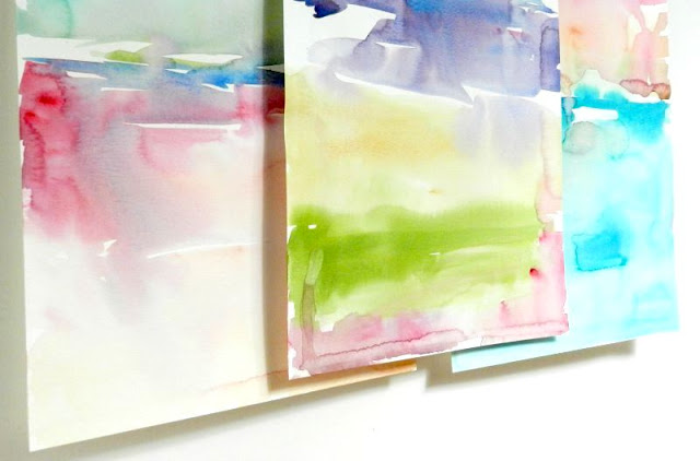 Abstract Landscape Watercolor Paintings, Ocean and Sky, by Elise Engh: Grow Creative