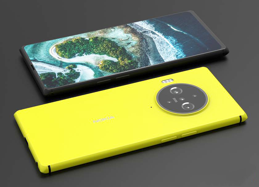 PureView appeared on concept images with a sub-screen camera and design, like Nokia Lumia