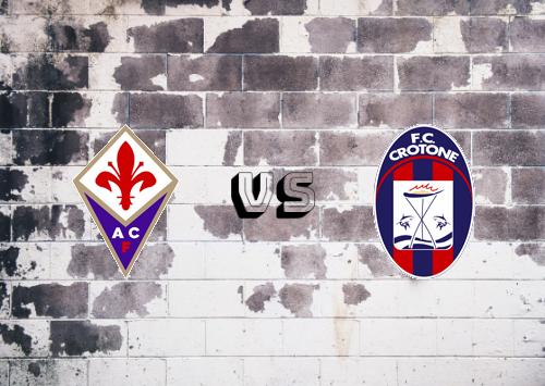 Fiorentina vs Crotone  Resumen