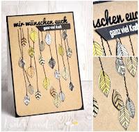 Kartenwind : falling leaves #kartenwind #karte #cardmaking #card #basicgrey #fuzzycut #papercrafts #danipeuss