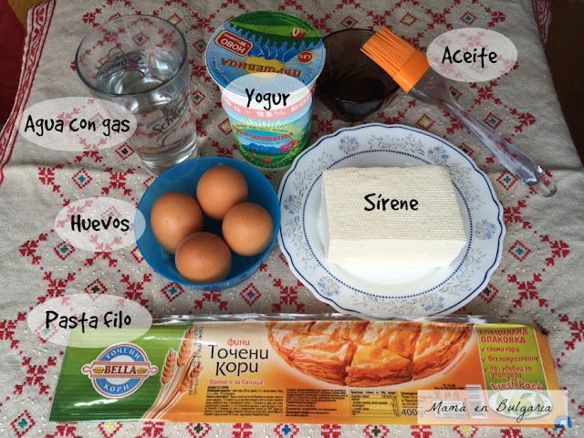 Ingredientes banitsa Bulgaria sírene