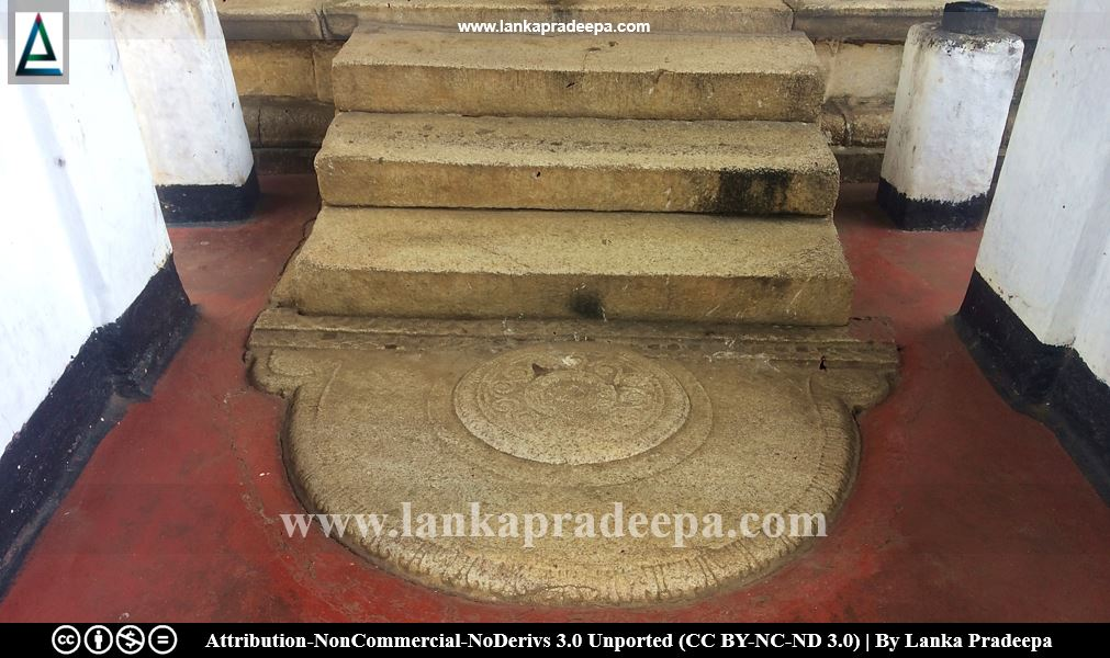 stone-made steps accompanied by Sandakada Pahana