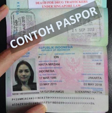 contoh bentuk paspor