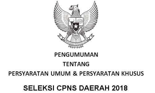 Persyaratan Umum dan Khusus CPNS Daerah Tahun 2018