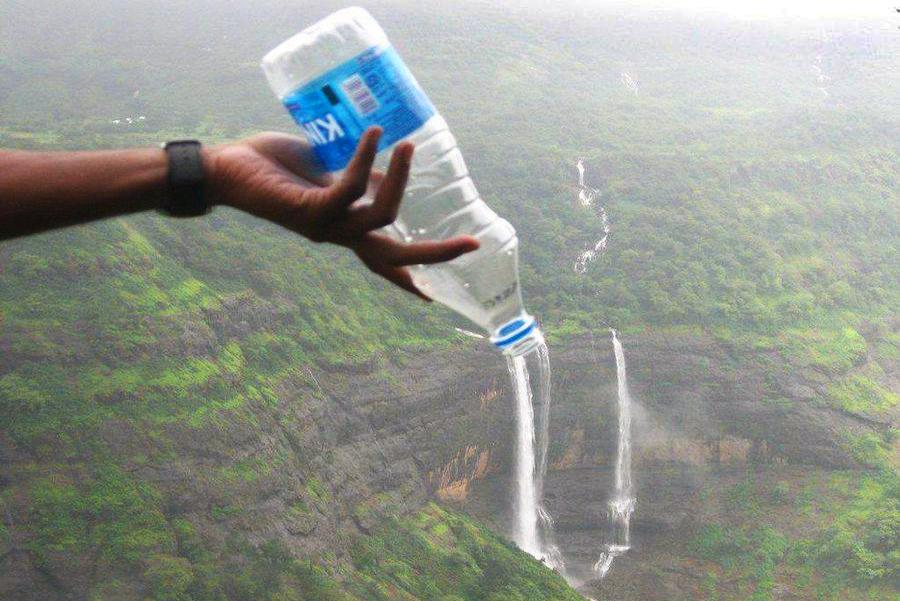 cara membuat aor terjun buatan dari botol aqua