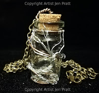 tree of life jewelry, message in a bottle necklace, wire glass jewelry