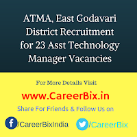 ATMA, East Godavari District Recruitment for 23 Asst Technology Manager Vacancies