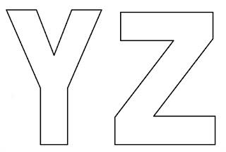 Moldes de letras Y e Z