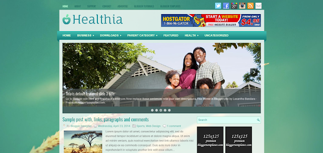 health blogger templates
