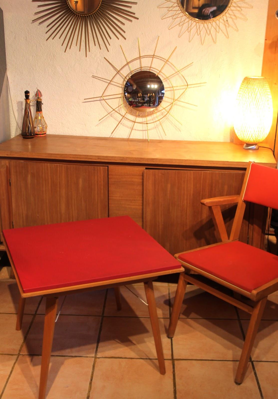 chicbaazar objets vintage 50 60 70 table bridge scandinave annee 50