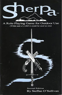 Cover of Sherpa, a role-playing game by Steffan O'Sullivan.