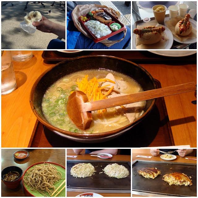 japanisches Essen: Nikuman, Bento, Hot Dog, Ramen, Zaru Soba, Okonomiyaki