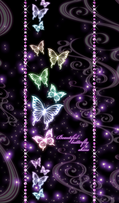 Beautiful butterfly shine