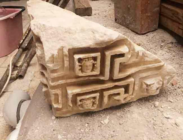 Ancient Greek architectural piece put up for sale on Turkish website