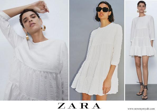 Infanta Sofia wore Zara textured weave dress