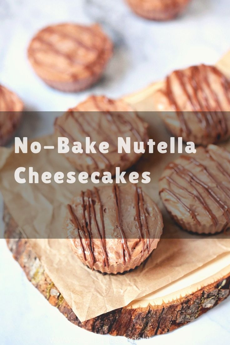 A fun no-bake Nutella dessert recipe, this No Bake Nutella Cheesecake recipe can be made full-size or into mini cheesecakes for single serving ease. No-Bake Nutella Cheesecake Recipe Despite growing up in an Italian-Irish household, I did not experience Nutella until I was in my 20s.