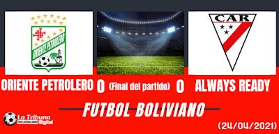 ORIENTE PETROLERO VS ALWAYS READY
