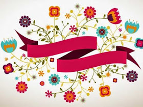 Ribbon Vector with Flower .Ai - Responsive Blogger Template