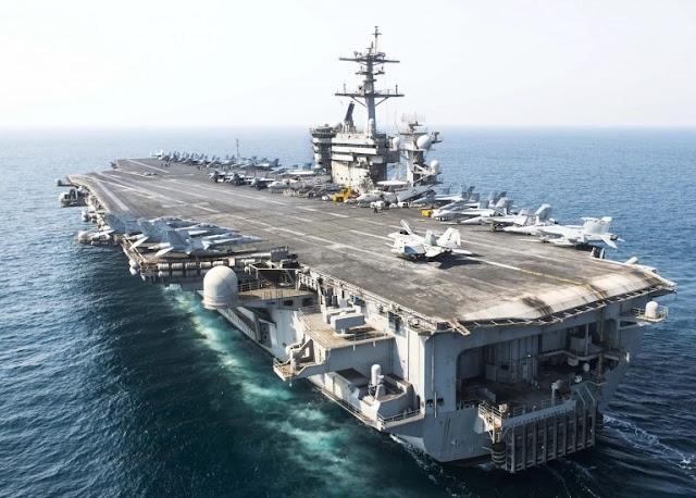 Ba tàu sân bay Mỹ có mặt tại Thái Bình Dương khi TQ gia tăng vũ trang Trường Sa