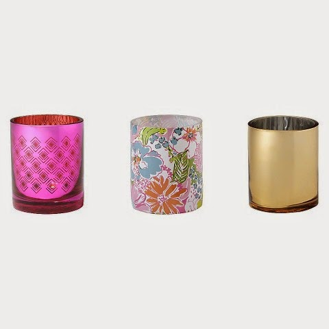 lilly pulitzer for target votive candle holders gold pink