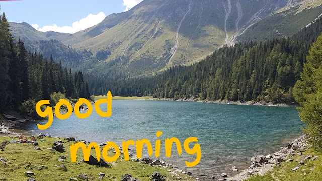 good morning lake image