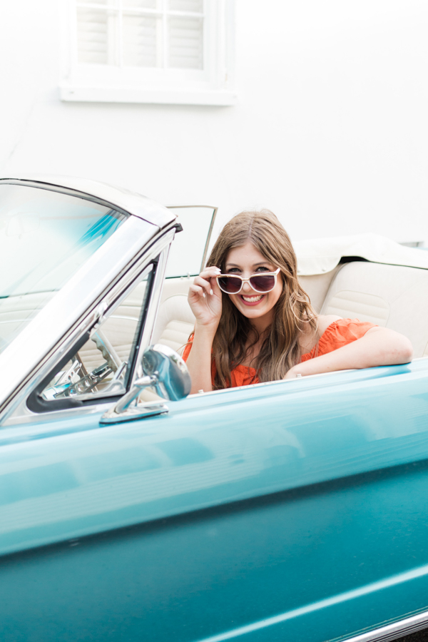 Gal in a Vintage Car | Chasing Cinderella