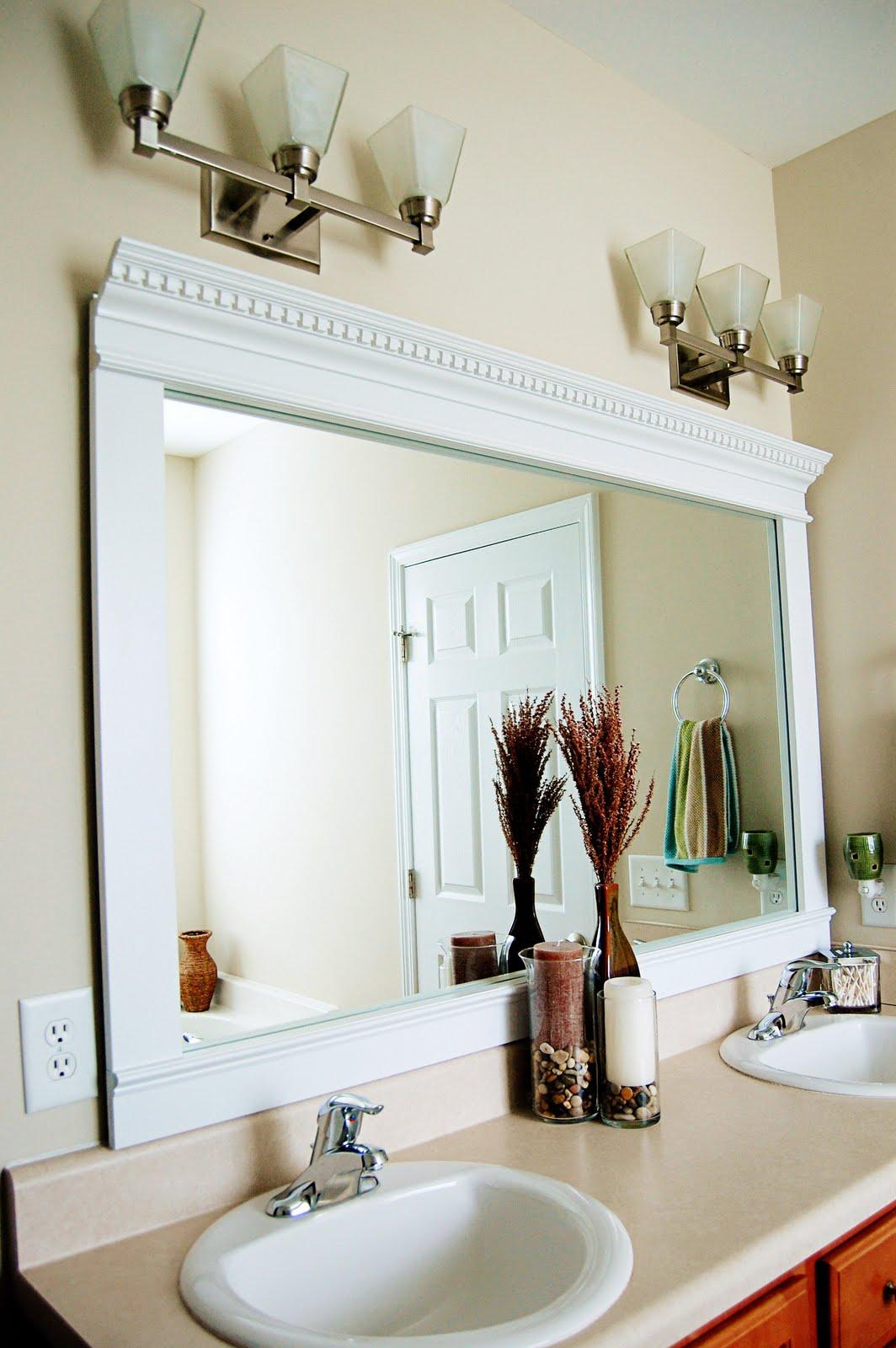 Framed Bathroom Mirrors Ideas: Organize And Decorate