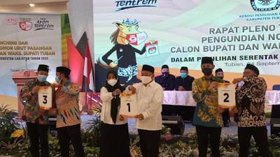 KPU Tuban Sukses Launching Maskot dan Tahapan Pengundian Nomor Urut Paslon