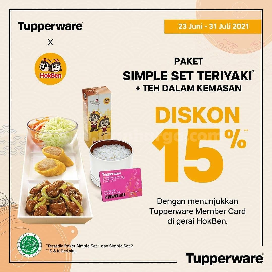 Promo HOKBEN Diskon 15% dengan Menunjukan Tupperware Member Card