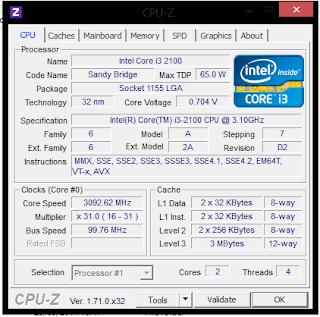Cara Melihat Spesifikasi Laptop dengan Aplikasi CPUZ