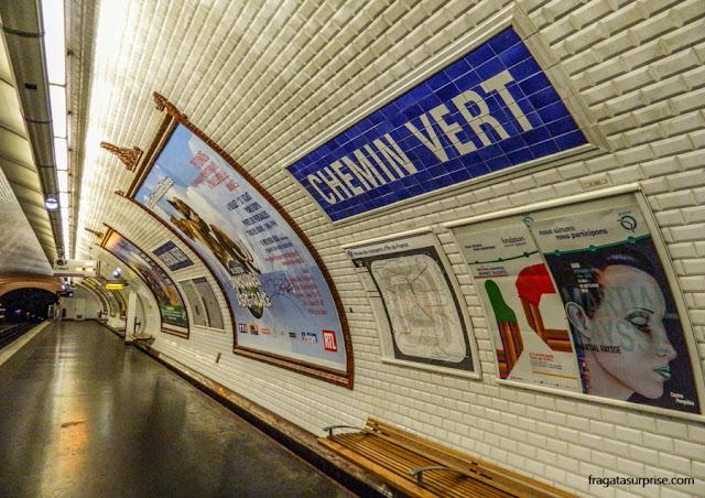 Estação de Metrô Chemin Vert, Paris
